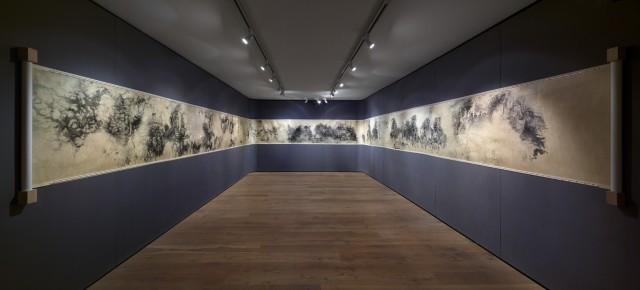 Apocalypse, 2011-2015, Ink on silk, 91.5 × 2000 cm