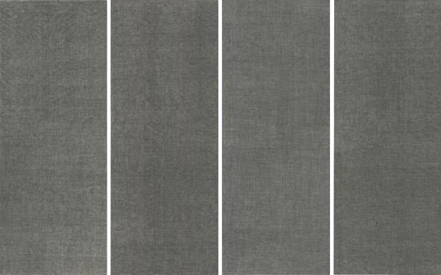 0669, 2006, Ink on paper 纸上水墨, 362 x 143 cm x 4 panels