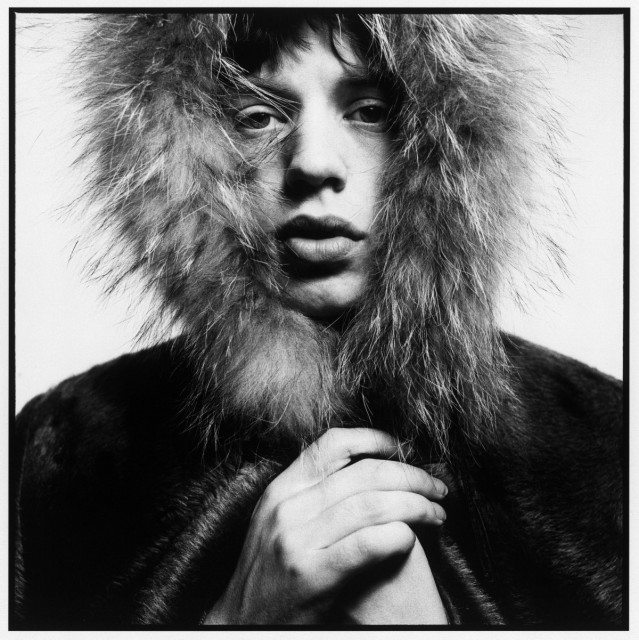 Mick Jagger, Fur Hood, 1964. ©David Bailey