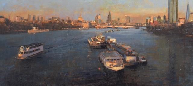 Douglas Gray Autumn Evening on the Thames £3,950