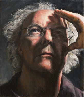 Fred Schley - Self portrait Oil on canvas, 40 x 50 cm