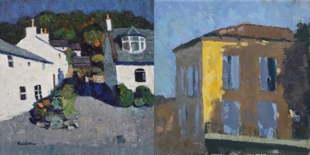 John Kingsley Fisherman's Cottages, Kippford & Michael G Clark, After a Hot Day, South West France