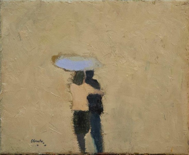 Michael G Clark PAI RSW Sharing an Umbrella