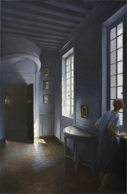 L'indiscrète, oil on canvas, 92 x 60cm, by Geneviève Daël
