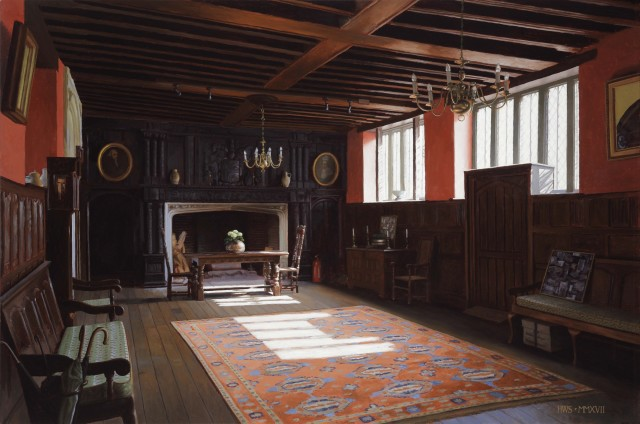'Rainthorpe – Hall', oil on board, 24 x 36ins (61 x 91.4cm), by Harry Steen