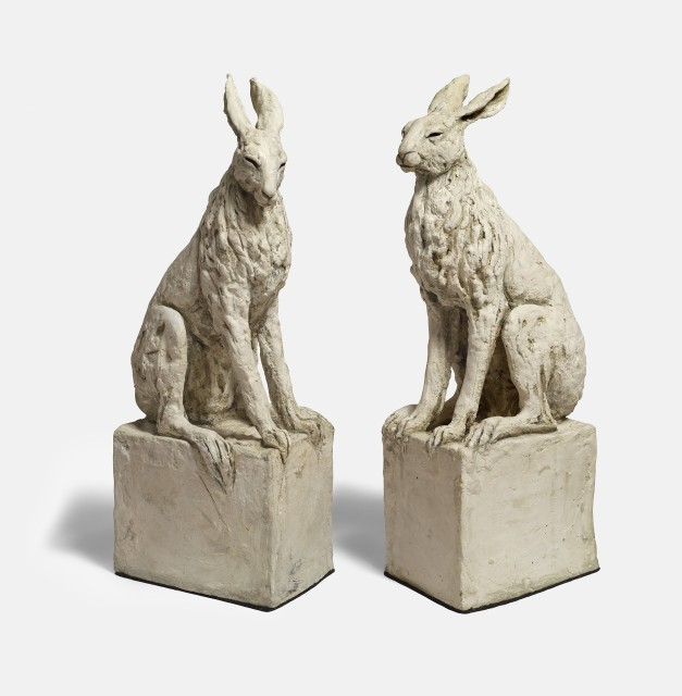 Tanya Brett, Hare VIII and IX, ceramic