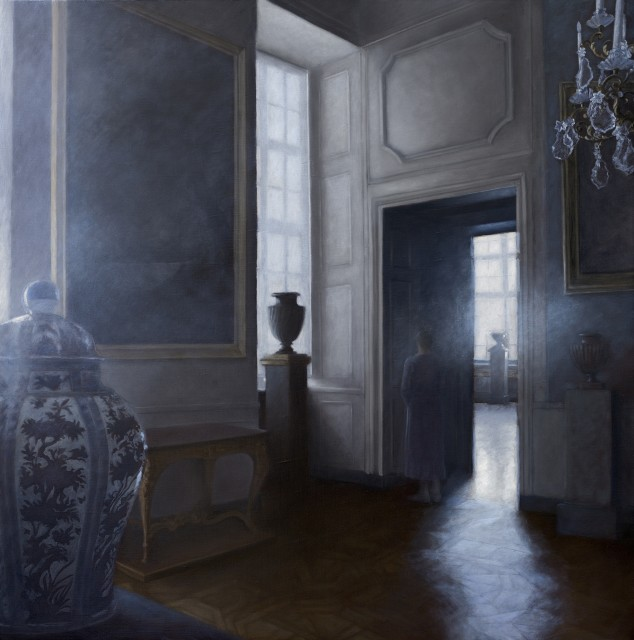 Le Miroir des songes, oil on canvas, 23.6 x 23.6ins (60 x 60cm), by Geneviève Daël