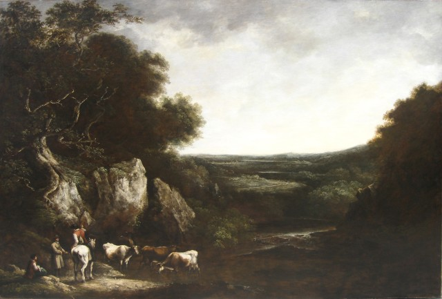 Pastoral landscape with Cattle