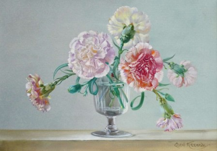 Cecil Kennedy, Carnations in a vase