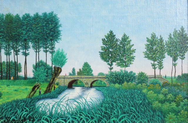 Camille Bombois, Landscape with Bridge