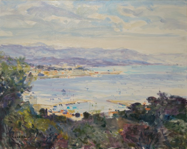 Gaston Sebire (1920 - 1977) ANTIBES Signed Oil on canvas 36 x 44 inches canvas size