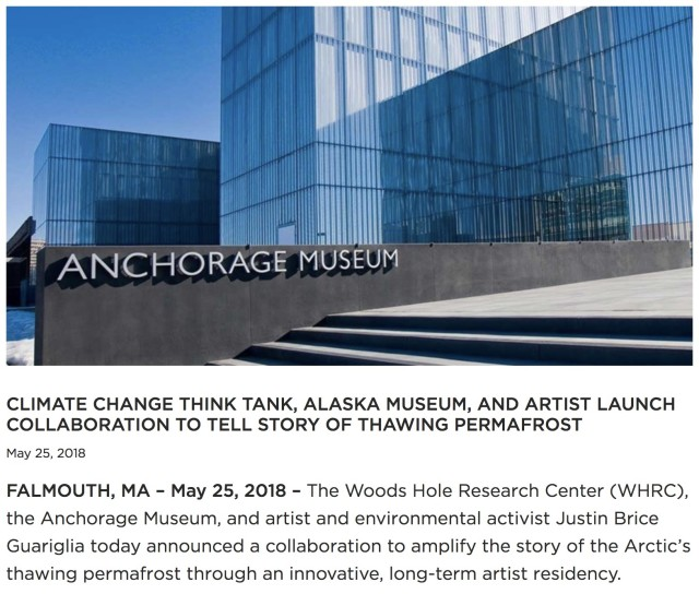 CLIMATE CHANGE THINK TANK, ALASKA MUSEUM, AND ARTIST LAUNCH COLLABORATION TO TELL STORY OF THAWING PERMAFROST