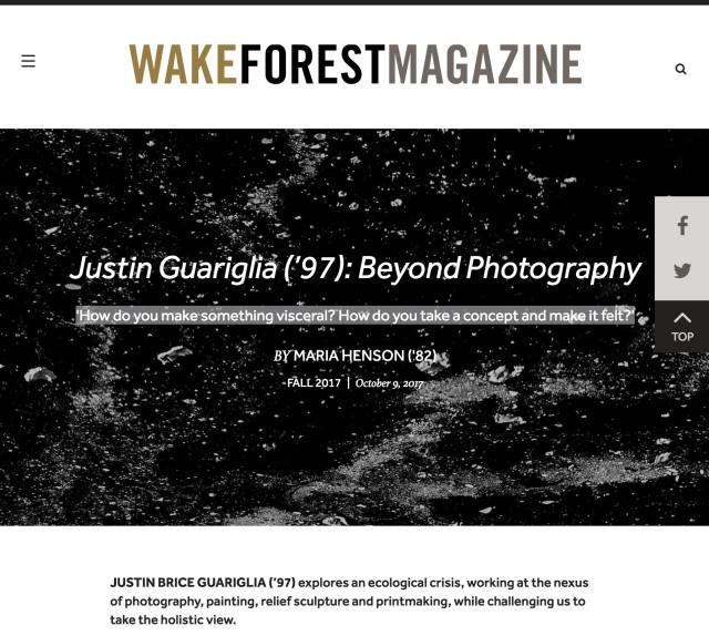 Justin Guariglia ('97): Beyond Photography