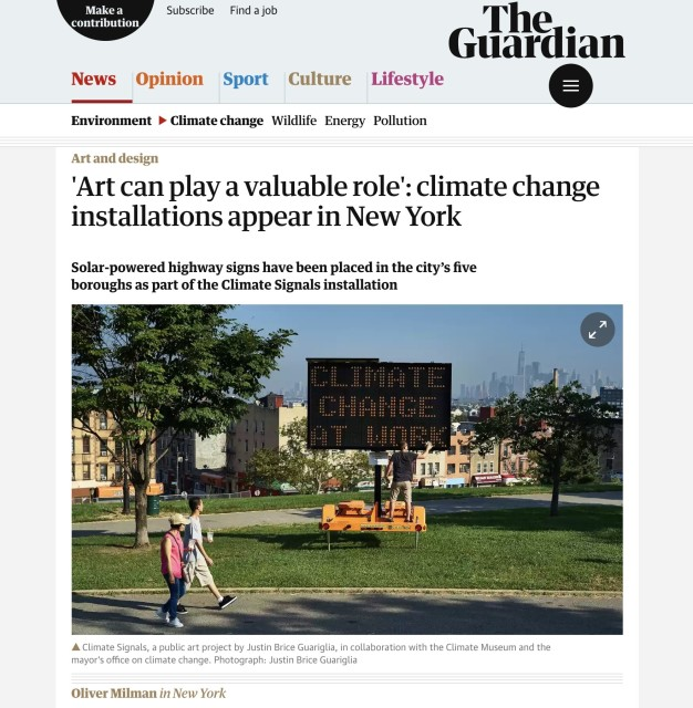 'Art can play a valuable role': climate change installations appear in New York