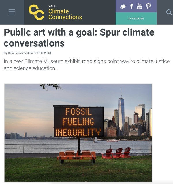Public art with a goal: Spur climate conversations