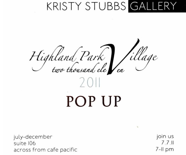 2011 Pop Up, Highland Park Village
