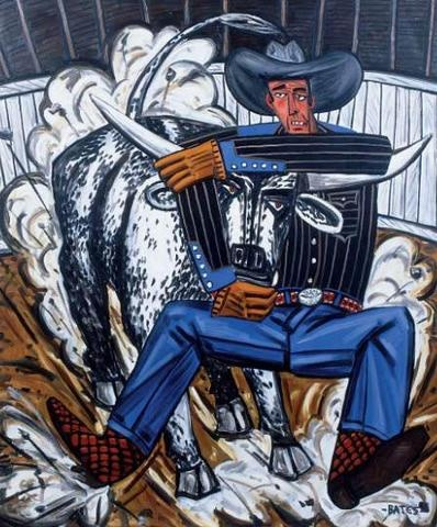 David Bates  RODEO 1992  Oil on canvas  60 by 48 inches