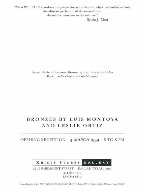 Popliteo, Bronzes by Luis Montoya and Leslie Ortiz