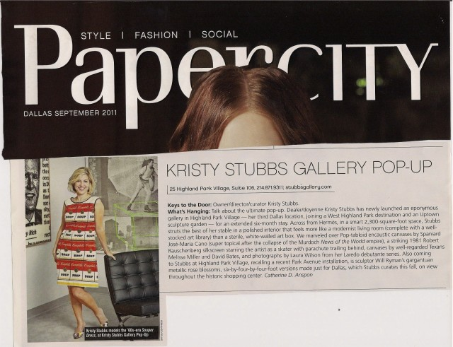 Kristy Stubbs Gallery POP-UP Highland Park Village