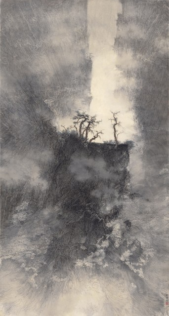 李華弌 Li Huayi 水石相搏 The Combat of Water and Stone 2013 水墨設色紙本 Ink and colour on paper 180 x 96cm