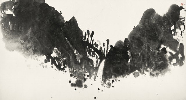 馬德升 Ma Desheng 山夢 Dream of Mountains 1984 水墨紙本 Ink on paper 96 x 177cm
