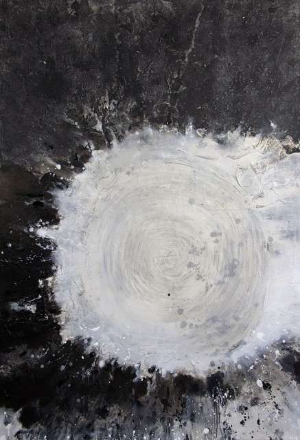 Zhang Jian-Jun, First Drop of Water #6, Chinese Ink, Oil Paint, Acrylic, Rice Paper on Canvas, 250 x 170 cm, 2015
