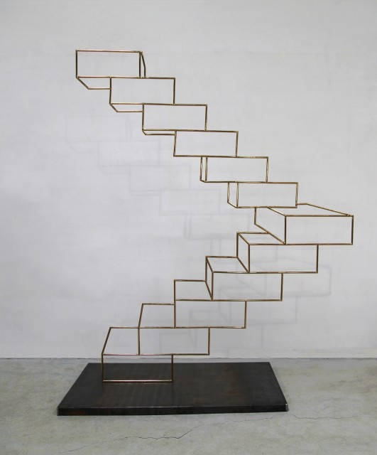 Gao Weigang, Up No. 2, Edition 1 of 3, Titanium Stainless Steel, Iron, 235 x 190 x 83 cm, 2014