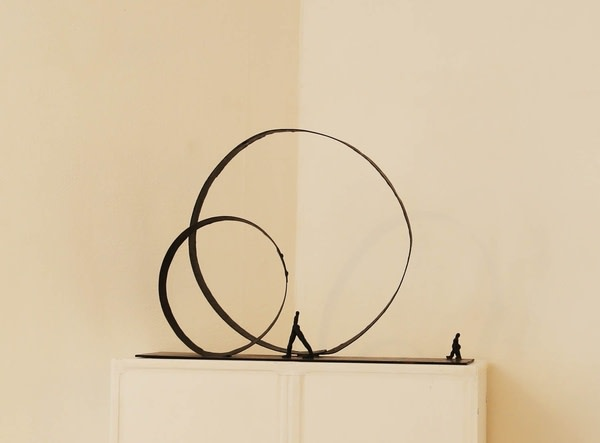Nathalie Decoster , Relativity of Time, Iron, 53 x 74.5 x 22 cm, 2005