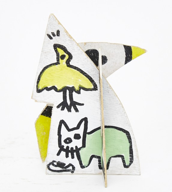 Tøru Harada, Cat House, Mixed Media, 12.5 x 8 x 7.5 cm, 2008