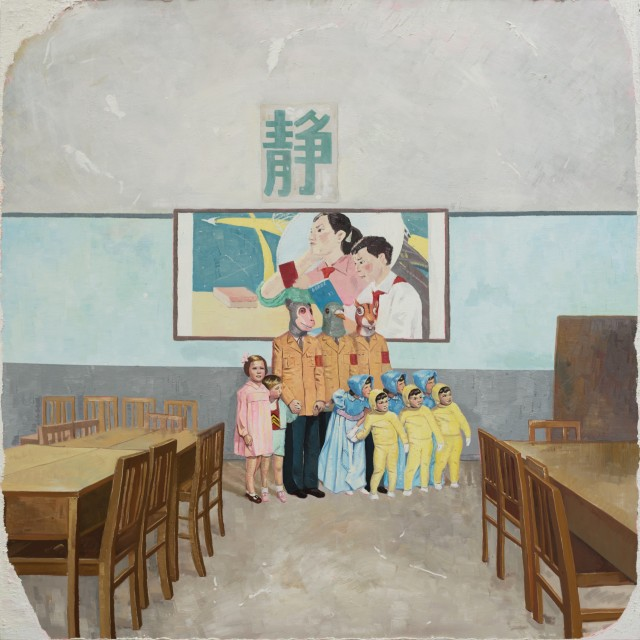 Zhao Yiqian, Still, Oil on Canvas, 230 x 230 cm, 2014
