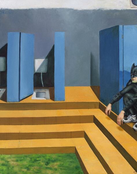 Li Jianfeng, Occupied Space, Oil on Linen, 150 x 120 cm, 2013
