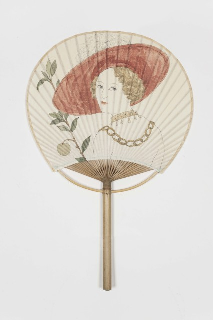 Peng Wei, Fate Connected with Fan 1, Paper Fan, Chinese Ink, 23.8 x 37.5 x 1 cm, 2014