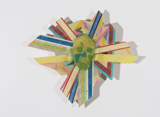 Asymmetrical Maybe, Woodcut, Drawing, 55 x 62 cm, 2016
