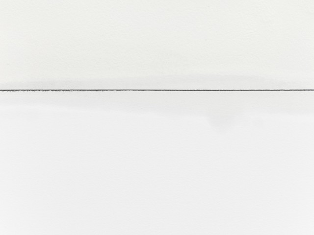 Straight Line (detail), Acid-free Oil Based Marker on Paper, Pins, Dimensions Variable, 2015