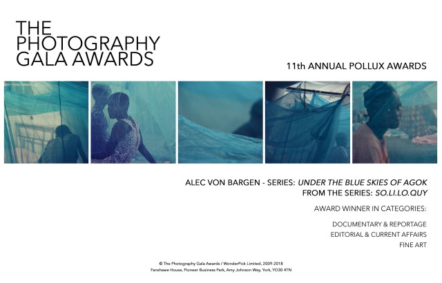 Alec Von Bargen awarded at The Photography Gala Awards 2018 - the 11th Pollux Awards