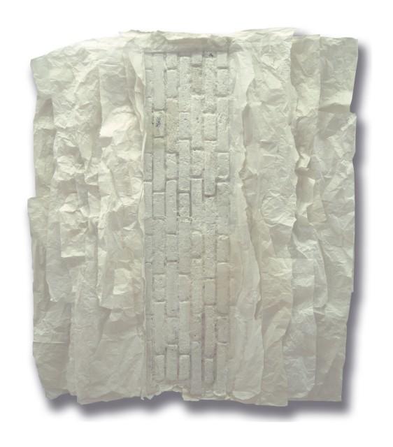 纪念碑 #1,2007 宣纸, 蜡, 树脂 193 x 170 cm