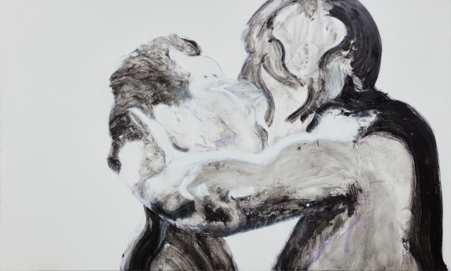 Nicole Wittenberg, Black and White Kiss, 2016, Oil on canvas 200.7 x 335.3 cm 79 x 132 in