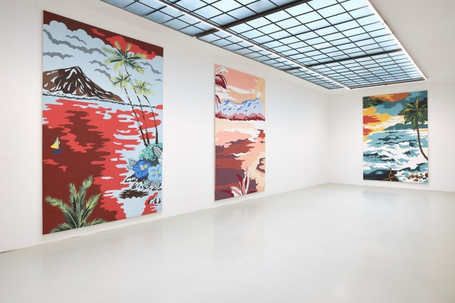 Installation View: Grear Patterson 'Planes & Mountains', Galerie Lisa Kandlhofer, 2019