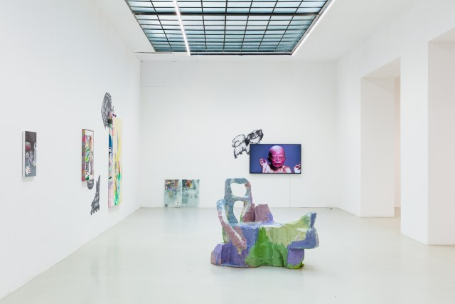 Installation view: Rhizome - Images of Thought, Nana Mandl, Galerie Kandlhofer, 2020