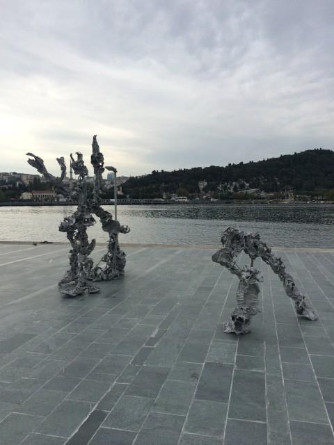 Karl Karner at the sculpture park