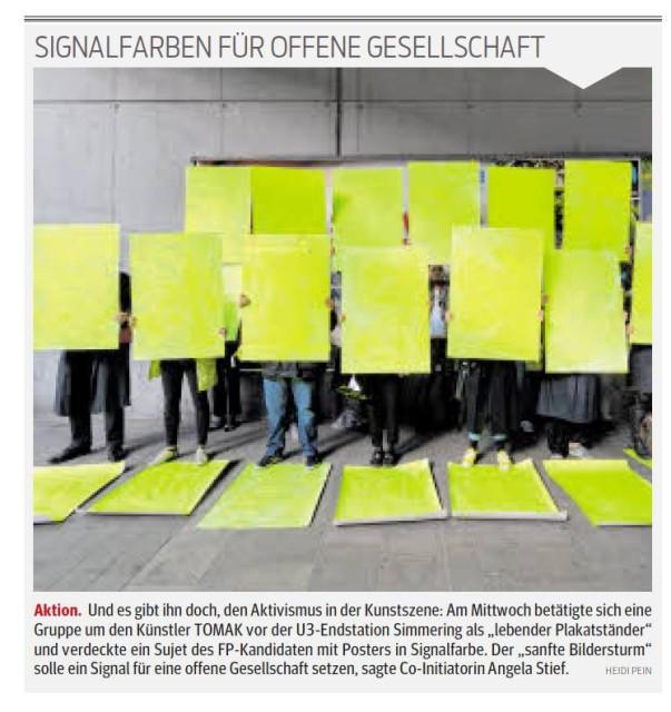 Signalfarben für eine offene Gesellschaft
