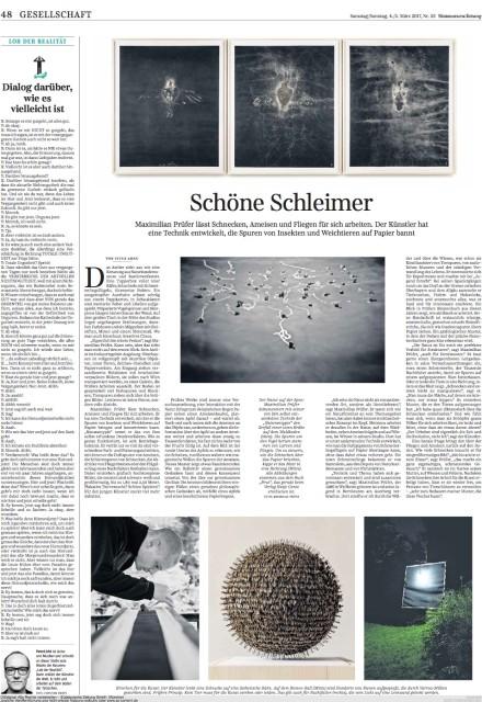 MAXIMILIAN PRÜFER @ Süddeutsche Zeitung
