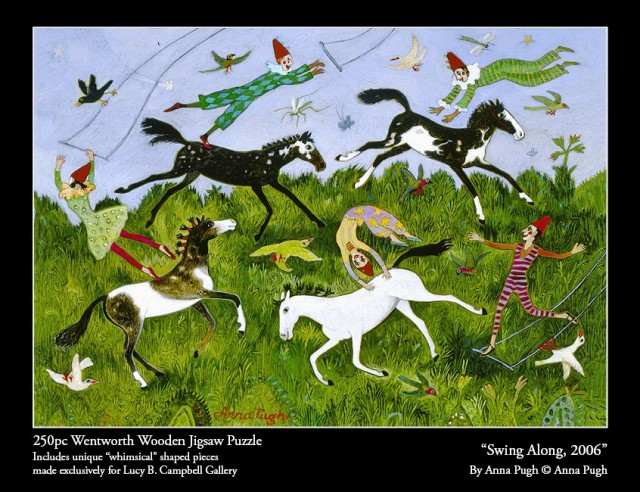 Anna Pugh Jigsaw Puzzle OUT OF STOCK, 'Swing Along' - 250 piece puzzle