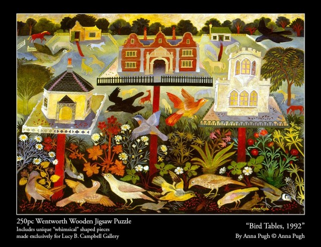 Anna Pugh Jigsaw Puzzle - OUT OF STOCK, 'Bird Tables' - 250 piece puzzle
