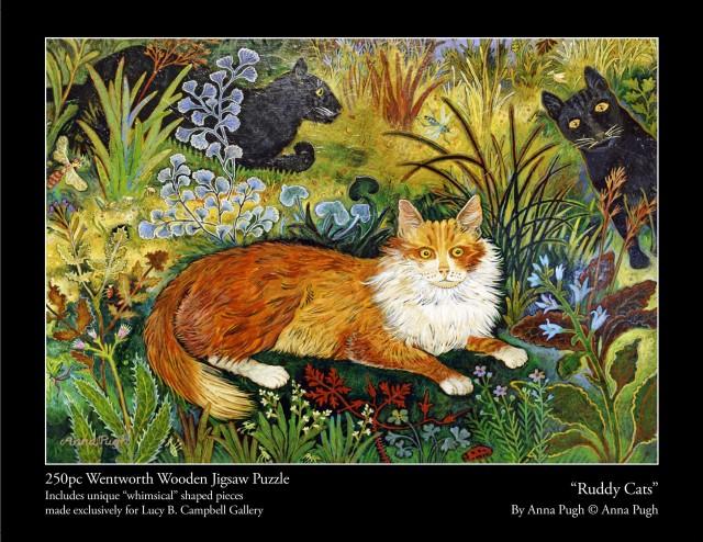 Anna Pugh Jigsaw Puzzle, Ruddy Cats - 250 piece puzzle