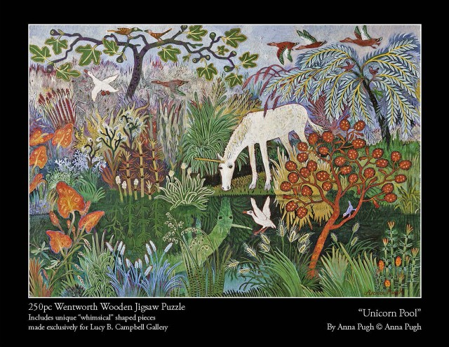 Anna Pugh Jigsaw Puzzle , Unicorn Pool - 250 Puzzle