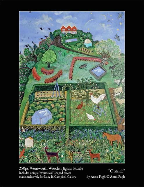 Anna Pugh Jigsaw Puzzles , Outside - 250 Piece Puzzle