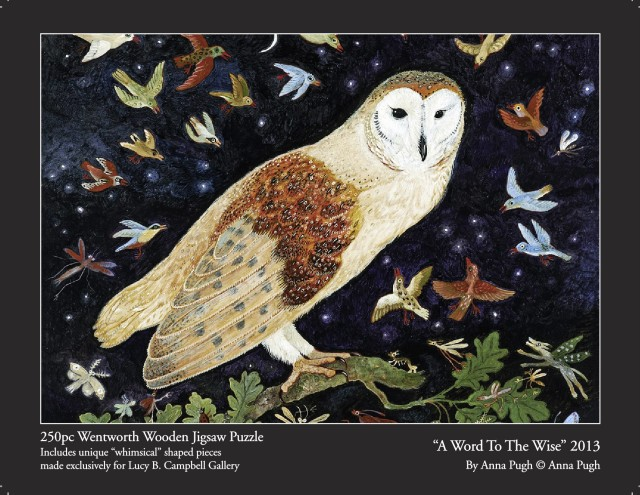 Anna Pugh Jigsaw Puzzle - OUT OF STOCK, 'A Word To The Wise' - 250 pieces