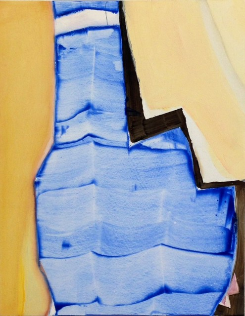 Katie Darby Slater, Room with Ocean View II, 2015  Oil on panel, 14 x 11 in.  dar006