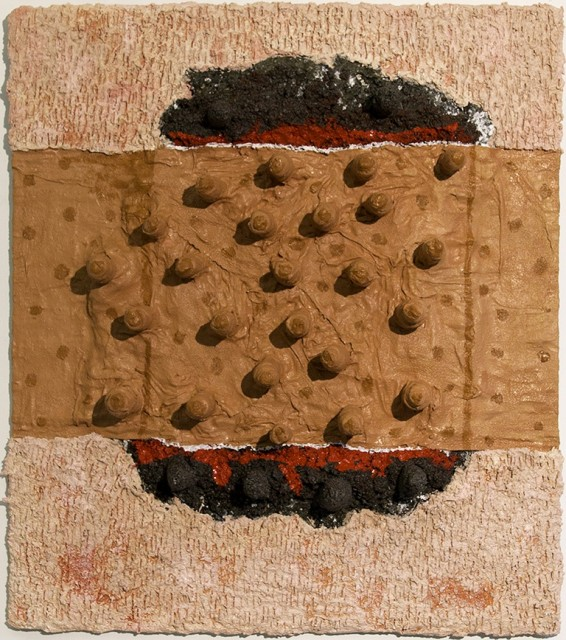 <p>Whitney Oldenburg,&#160;<i>Hurt</i>, 2014</p><p>Plaster, rock, oil, and acrylic, 42 x 36 x 6 in.</p><p>old001</p>